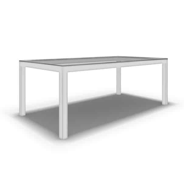 CLASSIC PARSONS DINING TABLE - POWDER WHITE