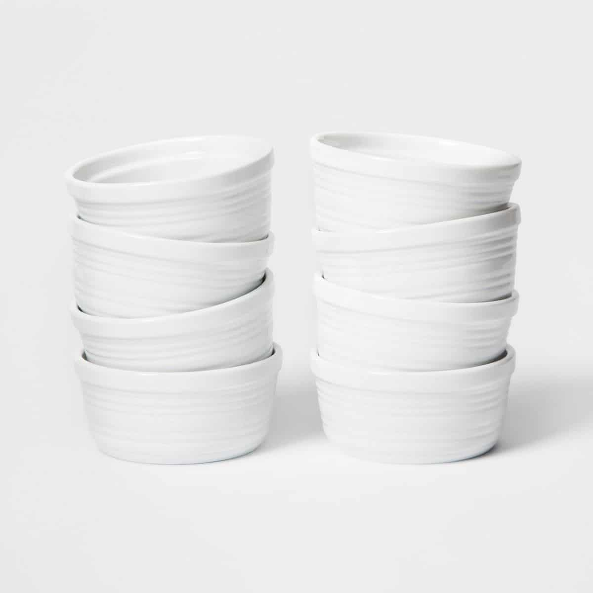 4oz Porcelain Stripe Ramekin