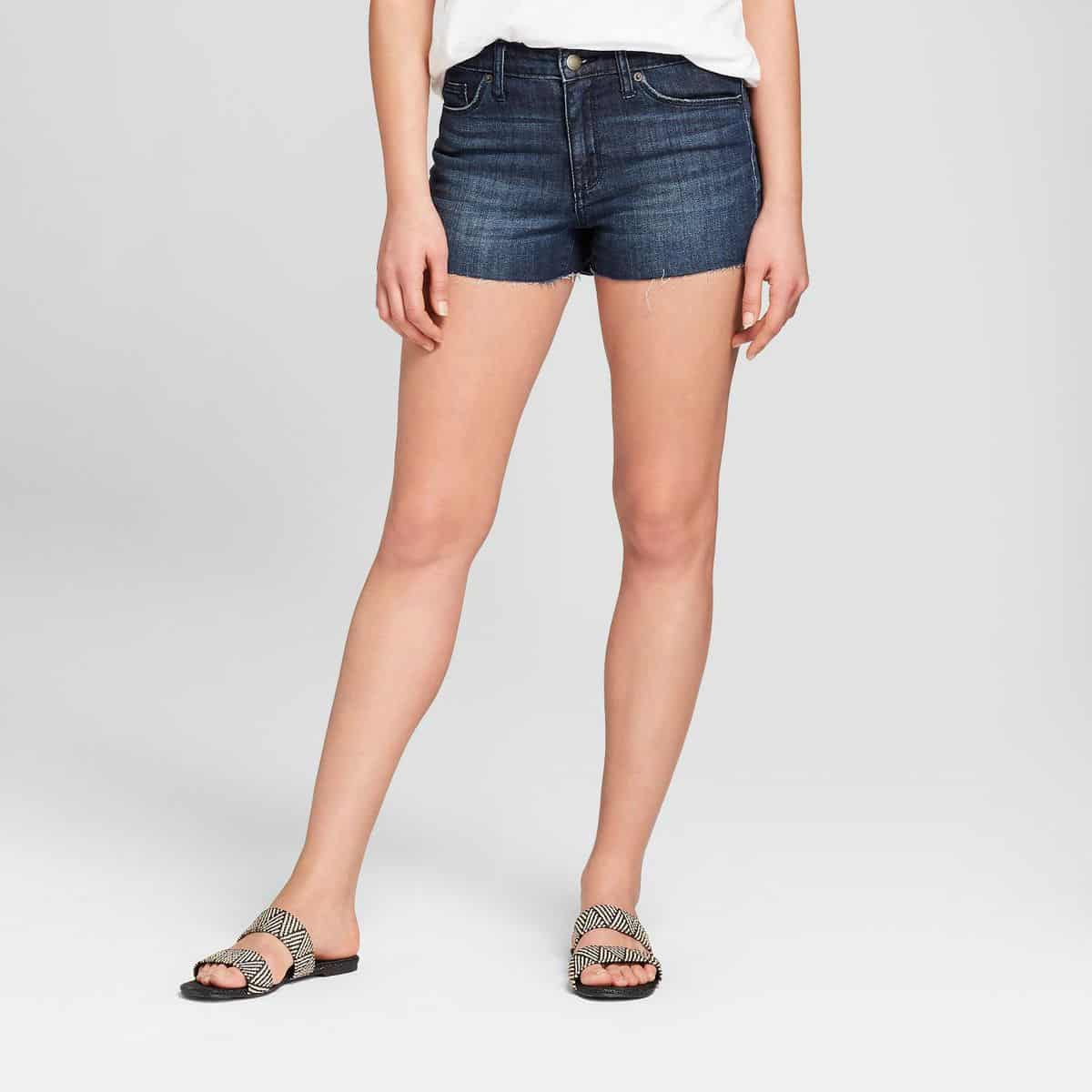 Women's High-Rise Faded Jean Shorts - Universal Thread