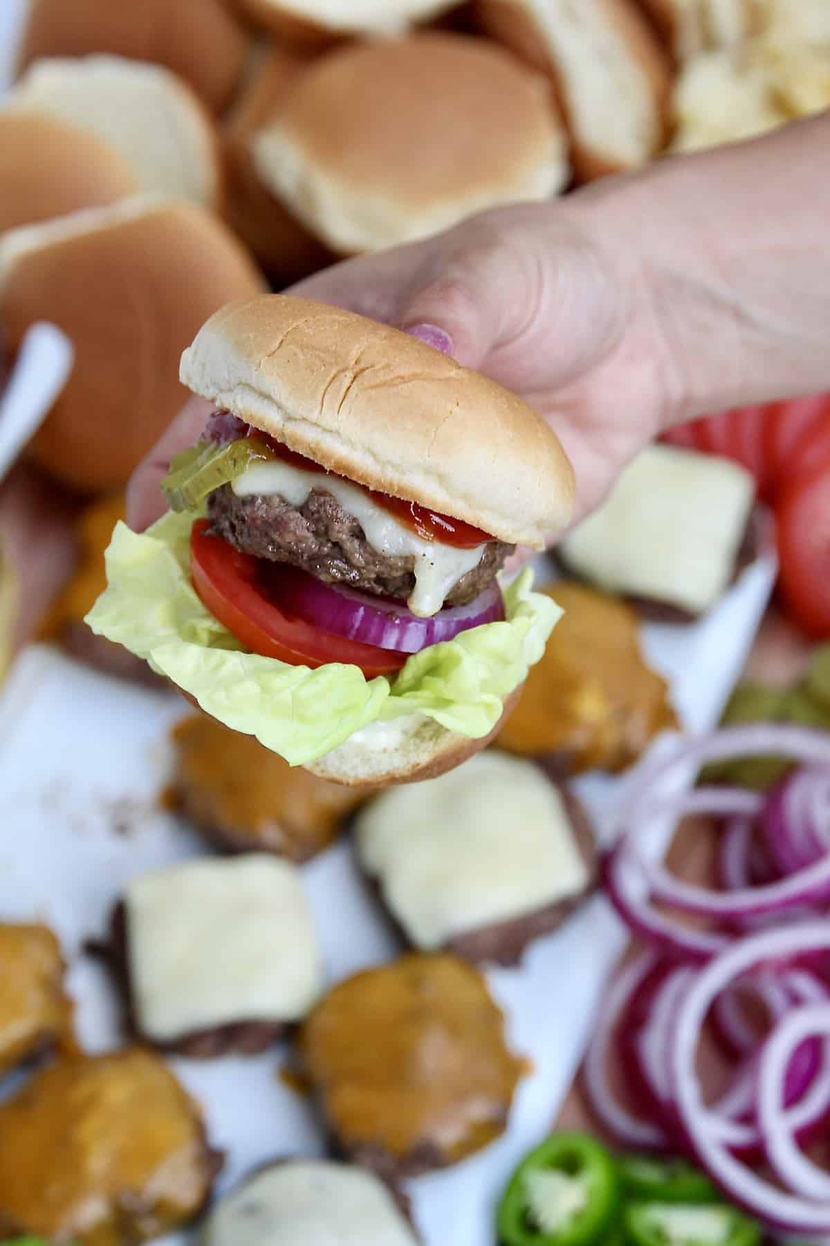Build-Your-Own Burger Board by The BakerMama