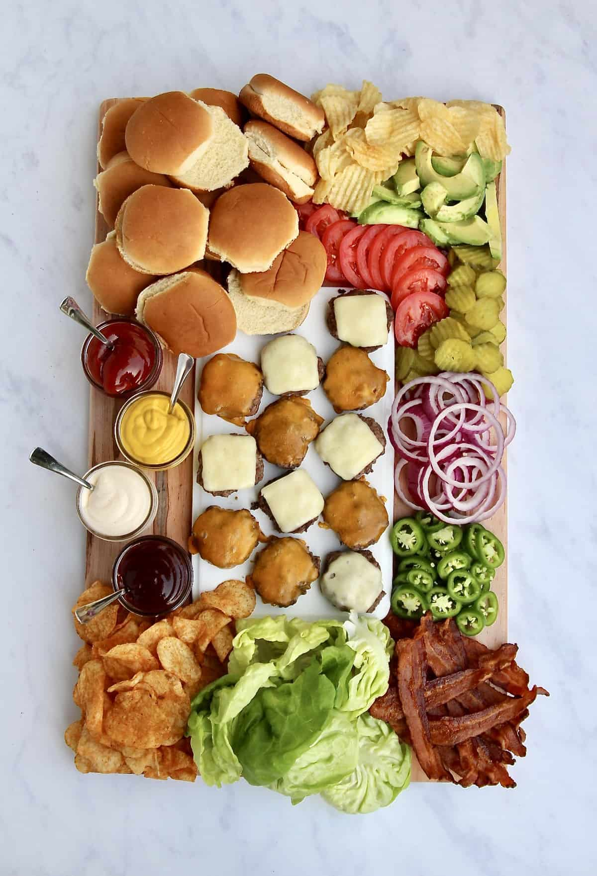 Build-Your-Own Burger Board