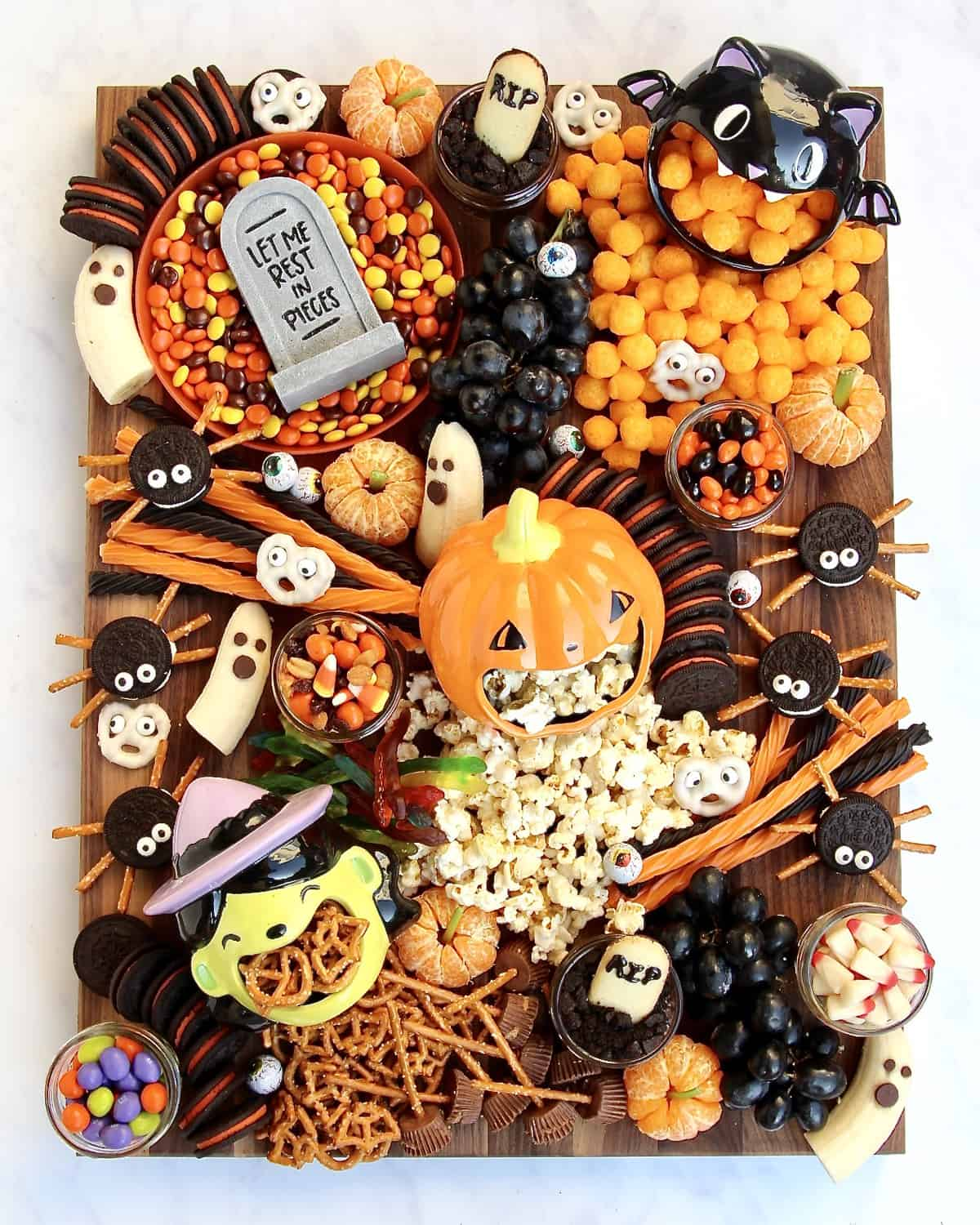 Spooky Snack Board by The BakerMama