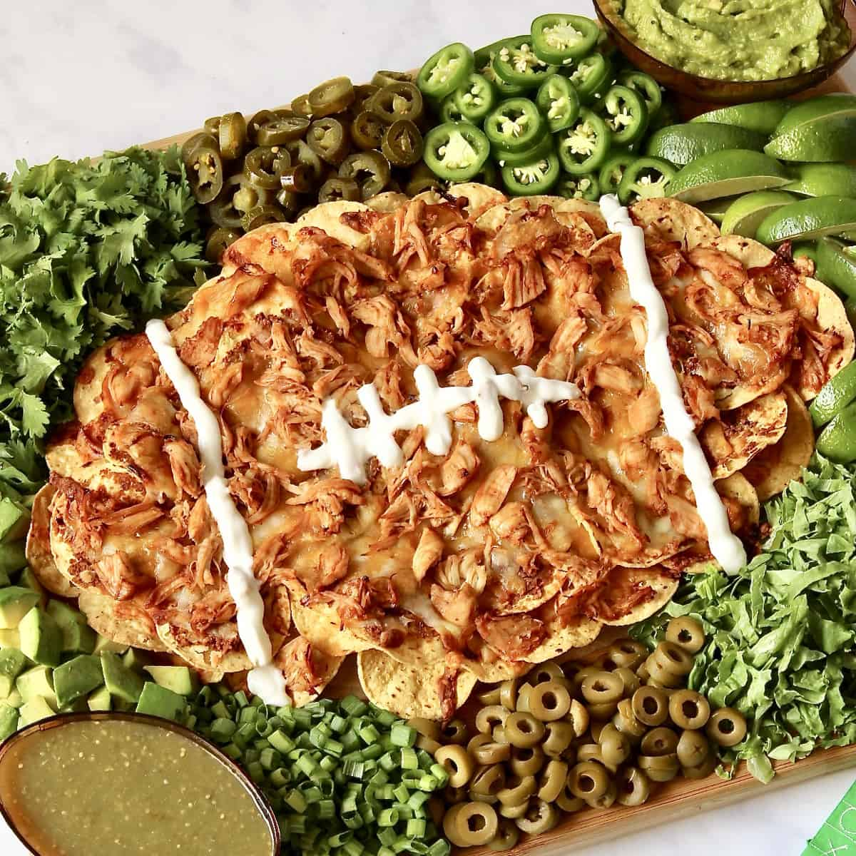 Football Nacho Board by The BakerMama
