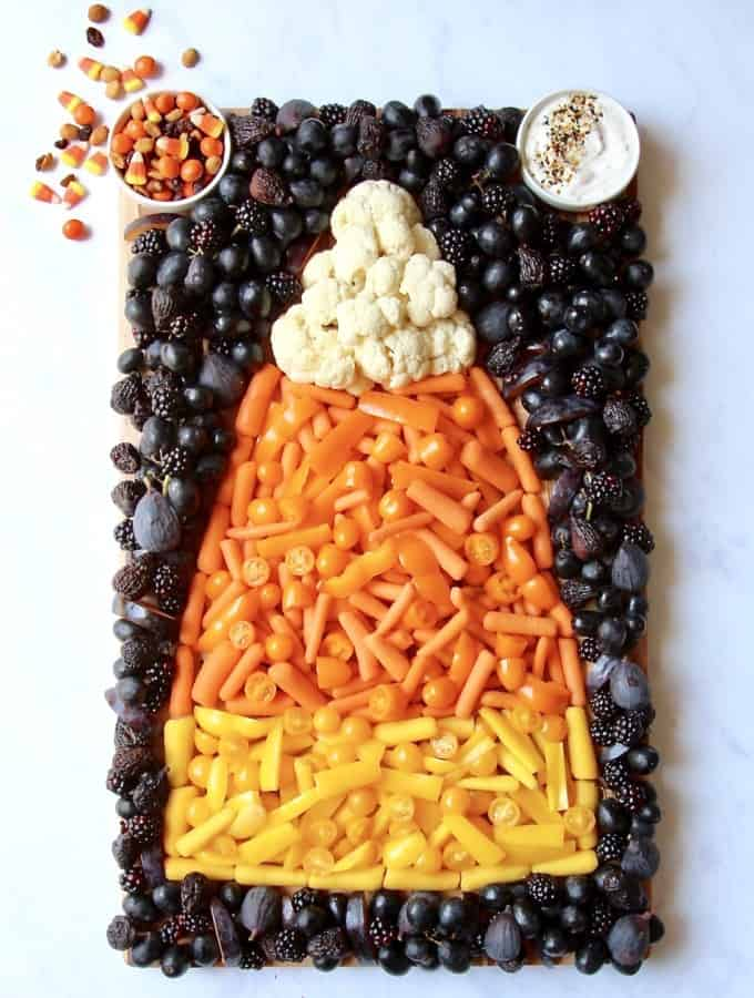 Candy Corn Snack Board