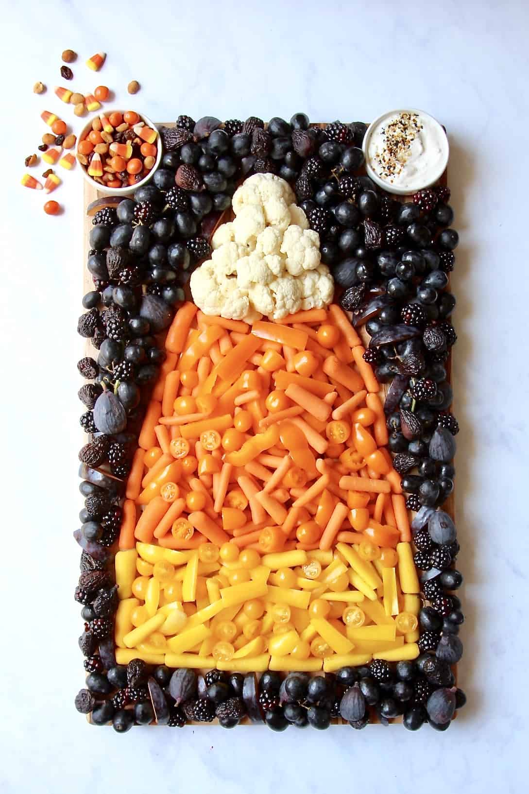 Candy Corn Snack Board The Bakermama