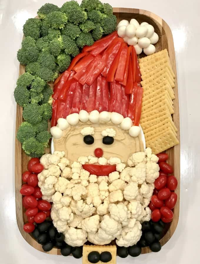 Healthy Santa Snack Board