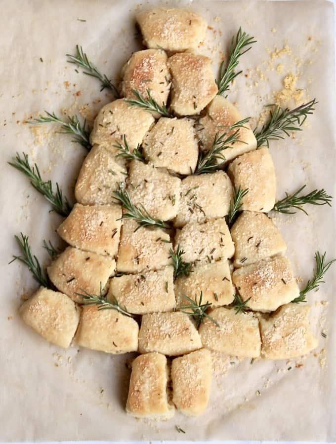 Christmas Tree Dinner Rolls