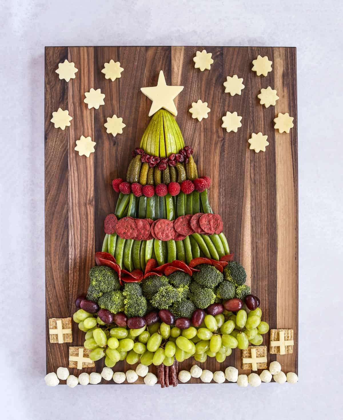Christmas Tree Snack Board from TheBakerMama.com