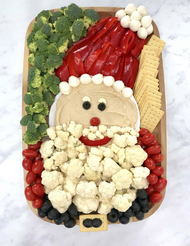 Healthy Santa Snack Board from TheBakerMama.com