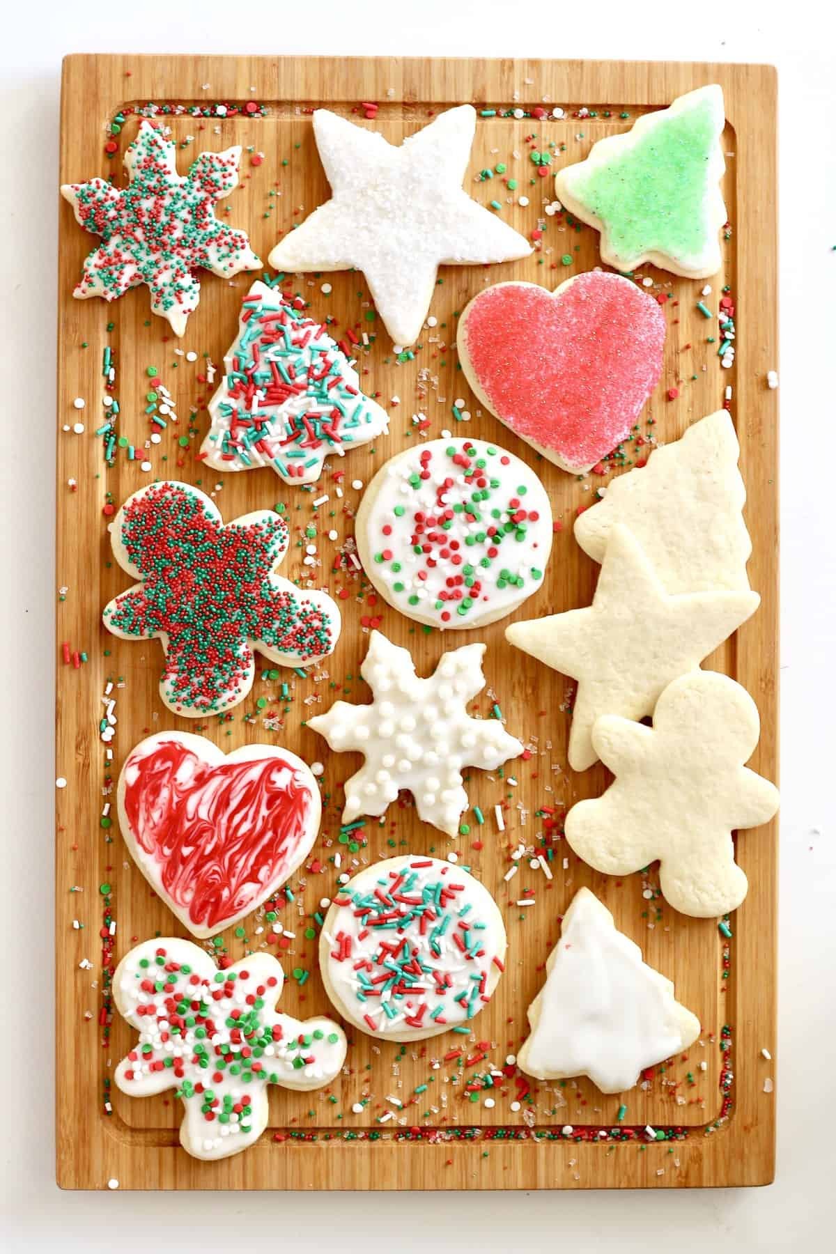 Easy No-Chill Cut-Out Sugar Cookies from TheBakerMama.com