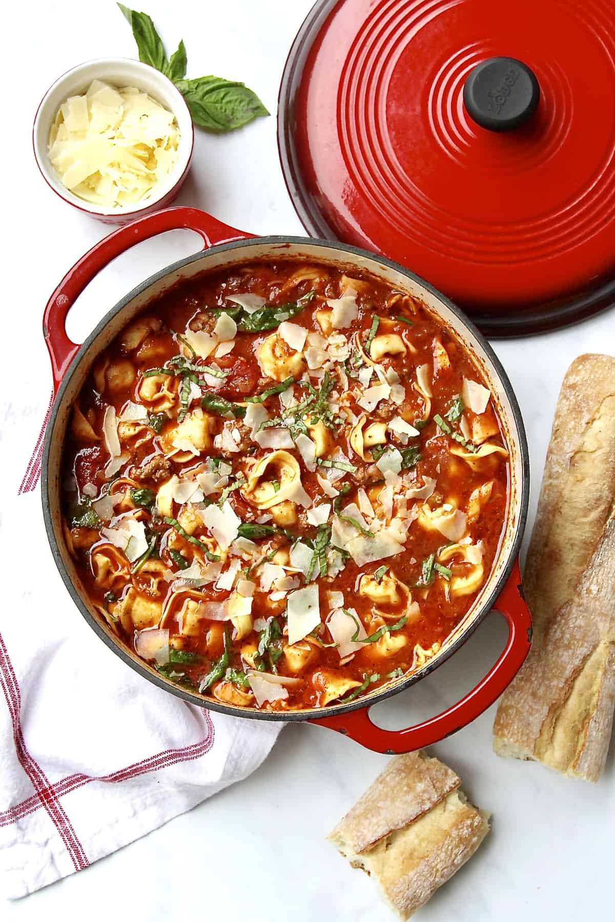 Tuscan Tortellini Soup by The BakerMama