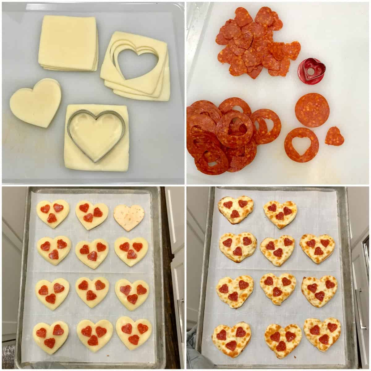 Heart-Shaped Tortilla Pizzas