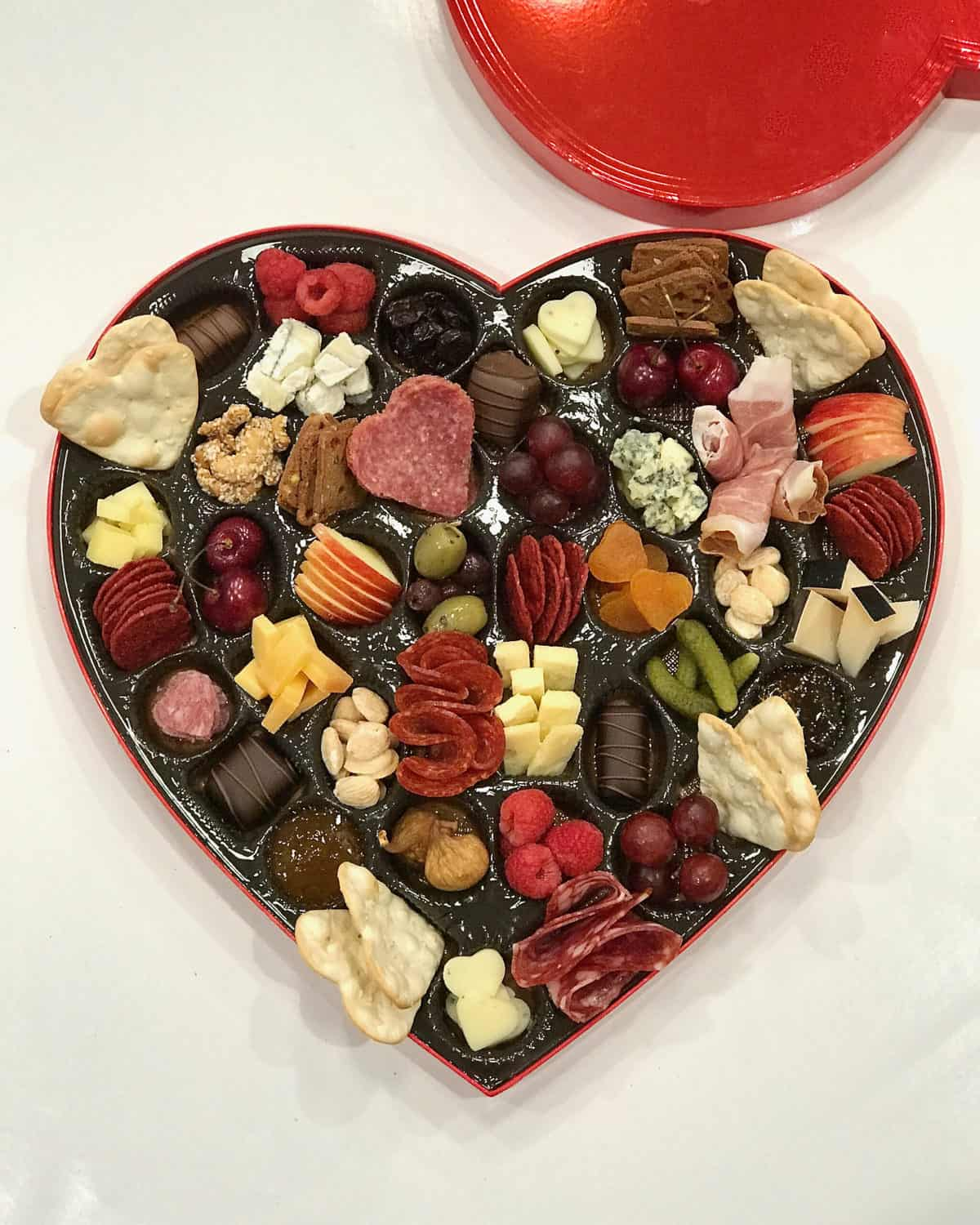 Charcuterie Heart Box 2019 by The BakerMama
