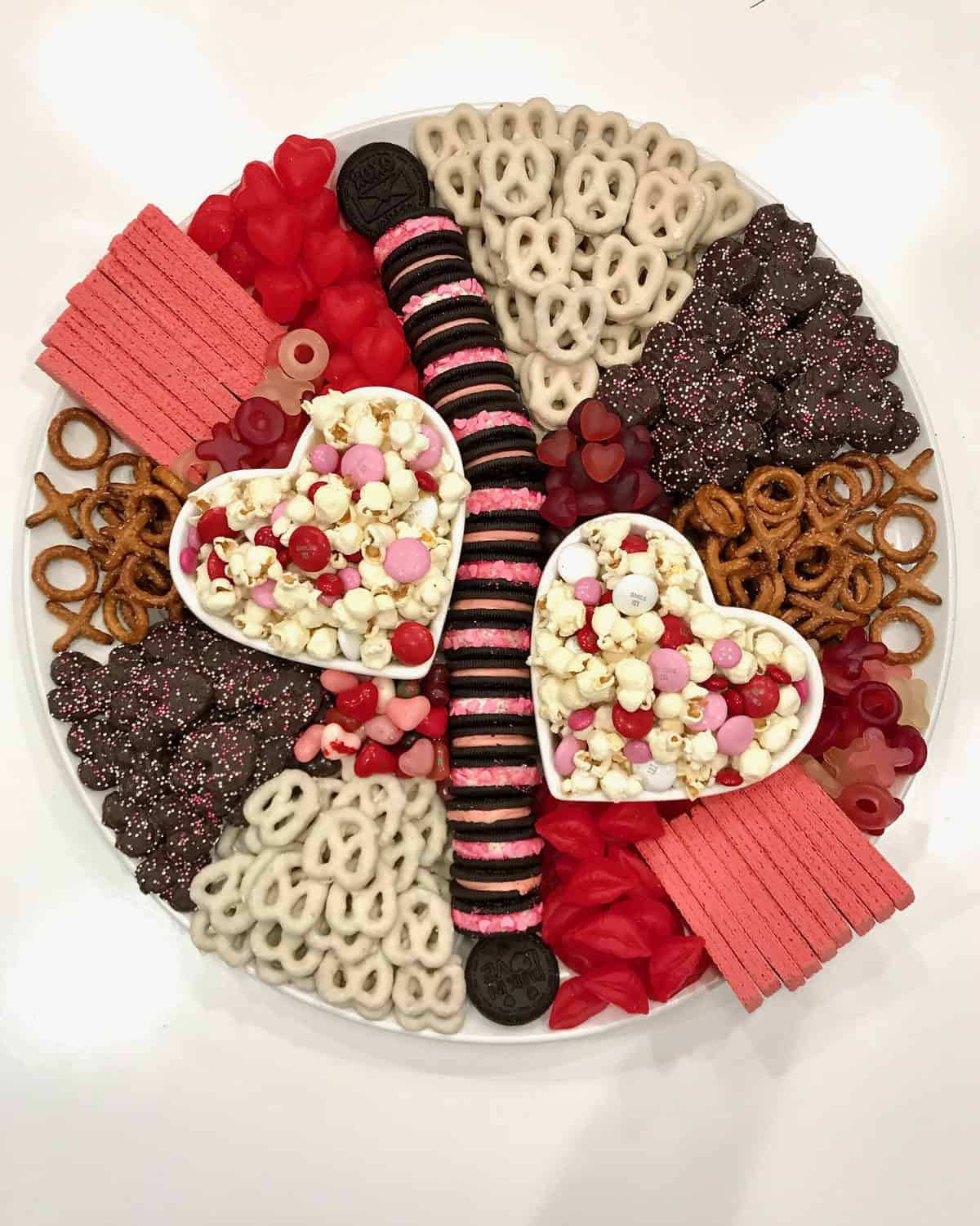 Sweet and Salty Valentine's Day Snack Board by The BakerMama