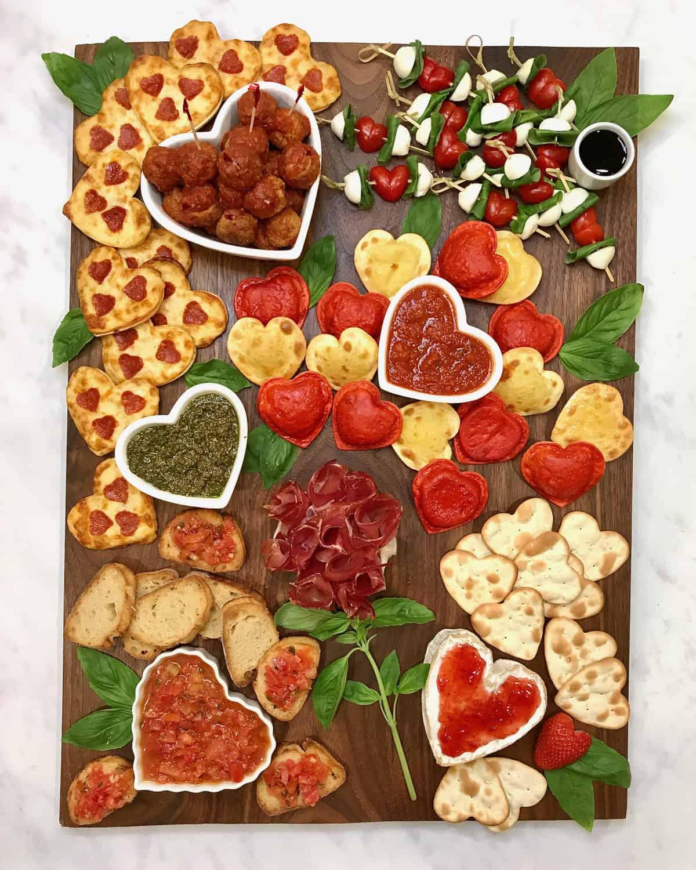 Italian Valentine's Day Dinner Board by The BakerMama