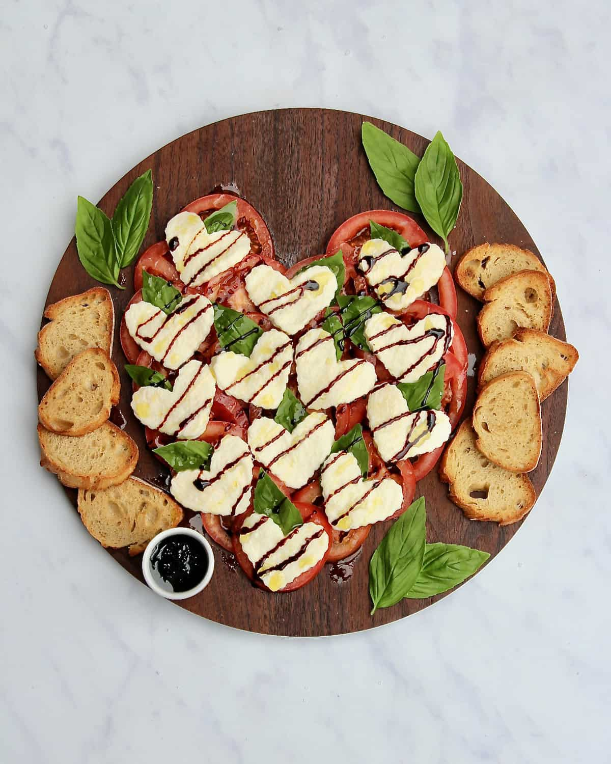 Heart Carprese Salad Board by The BakerMama