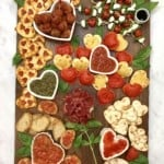 Italian-Inspired Valentine's Day Dinner Board