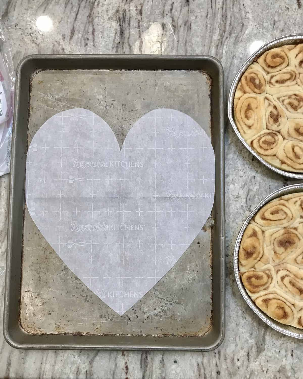 Pull-Apart Cinnamon Roll Heart