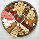 Valentine's Chocolate Fondue Board