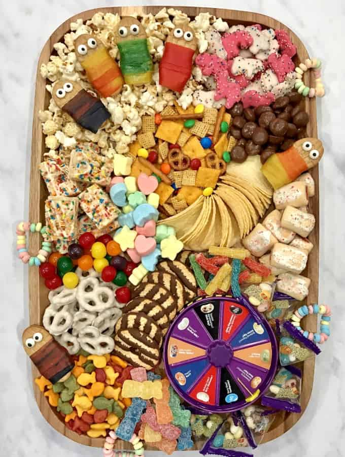 Slumber Party Snack Board by The BakerMama