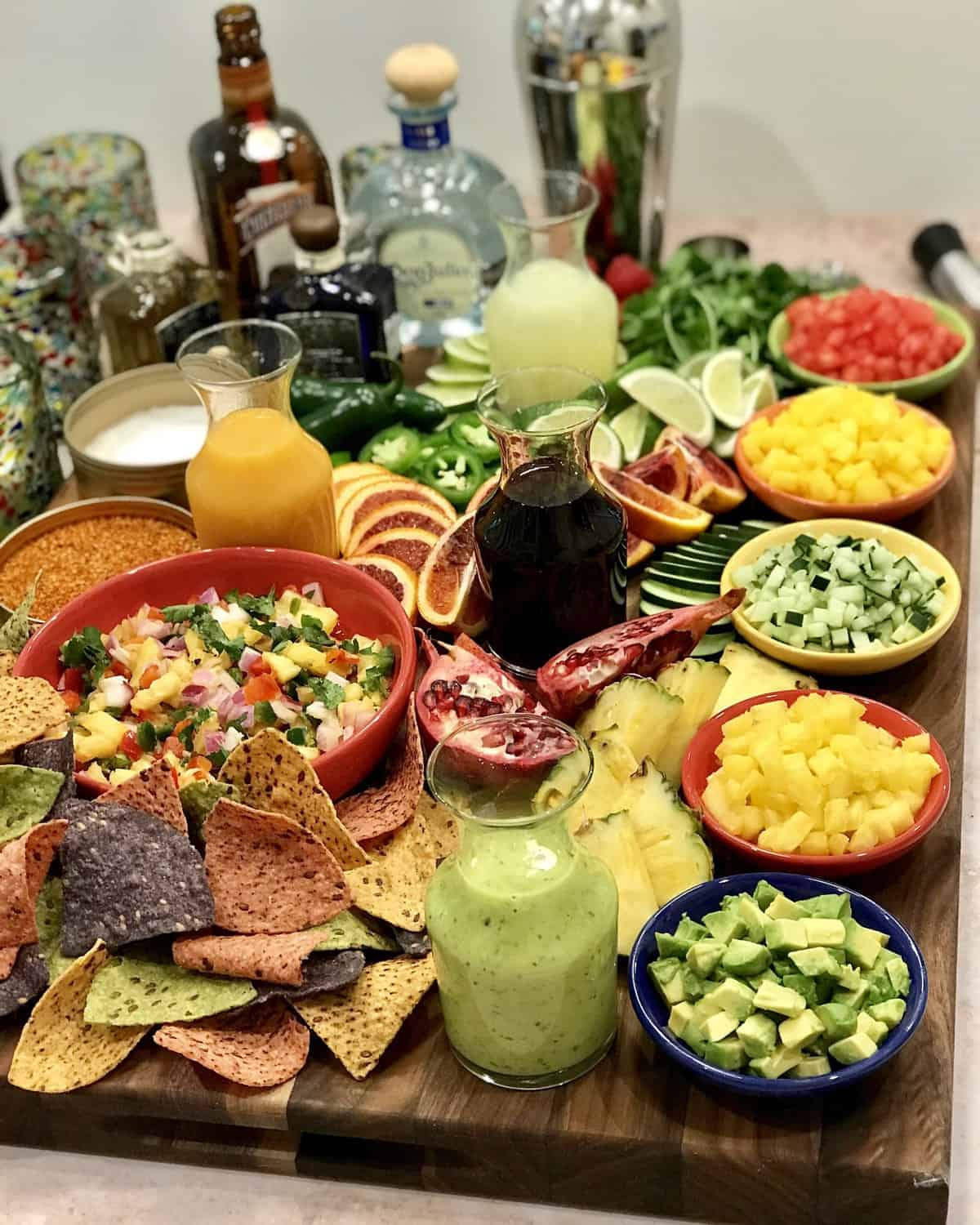 Make-Your-Own Margarita Board by The BakerMama