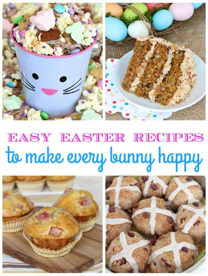Easy Easter Recipes on TheBakerMama.com to Make Every Bunny Happy