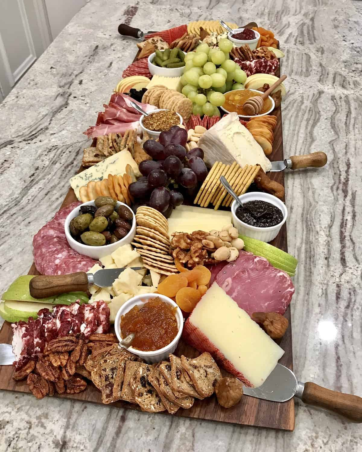Trader Joe's Cheese and Charcuterie Board by The BakerMama