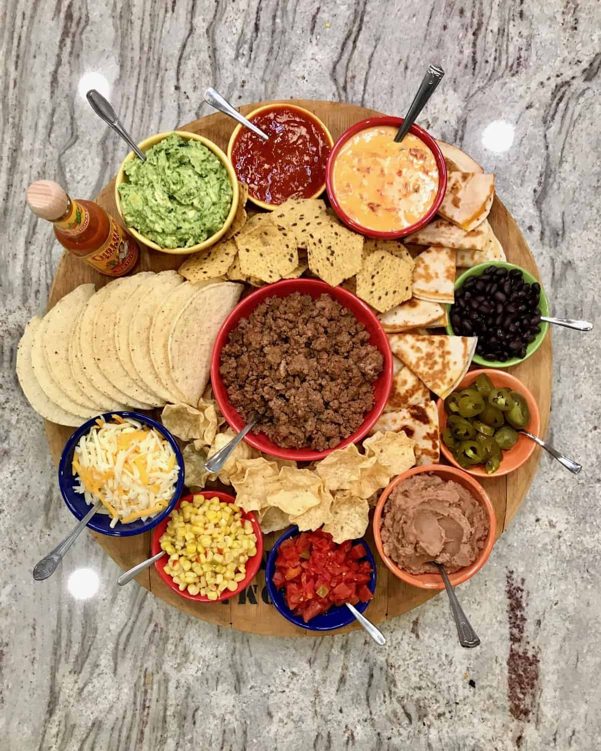 Build-Your-Own Beef Taco Board by The BakerMama