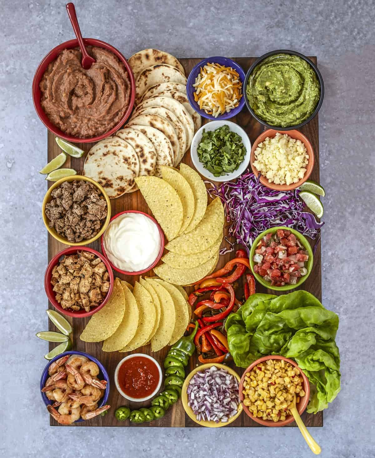 Build-Your-Own Taco Board by The BakerMama