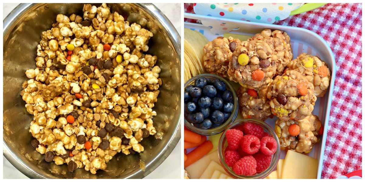 No-Bake Peanut Butter Popcorn Balls