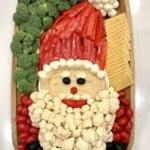 Healthy Santa Snack Board by The BakerMama