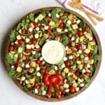 Salad Wreath with Creamy Italian Dressing