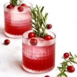 Cranberry Cheer Cocktail by The BakerMama