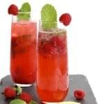 Sparkling Raspberry Mojitos