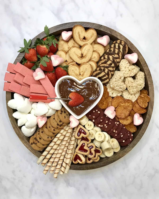 Valentine's Chocolate Fondue Board