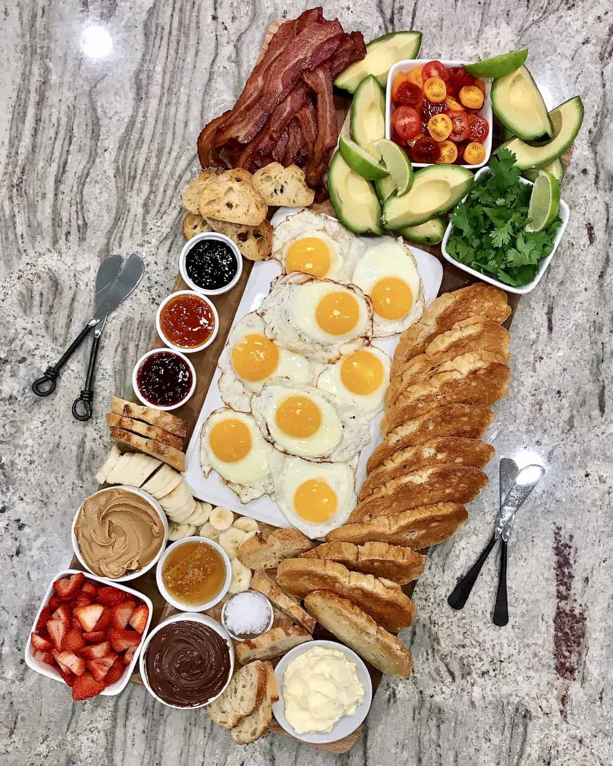 Top-Your-Own Toast Board by The BakerMama