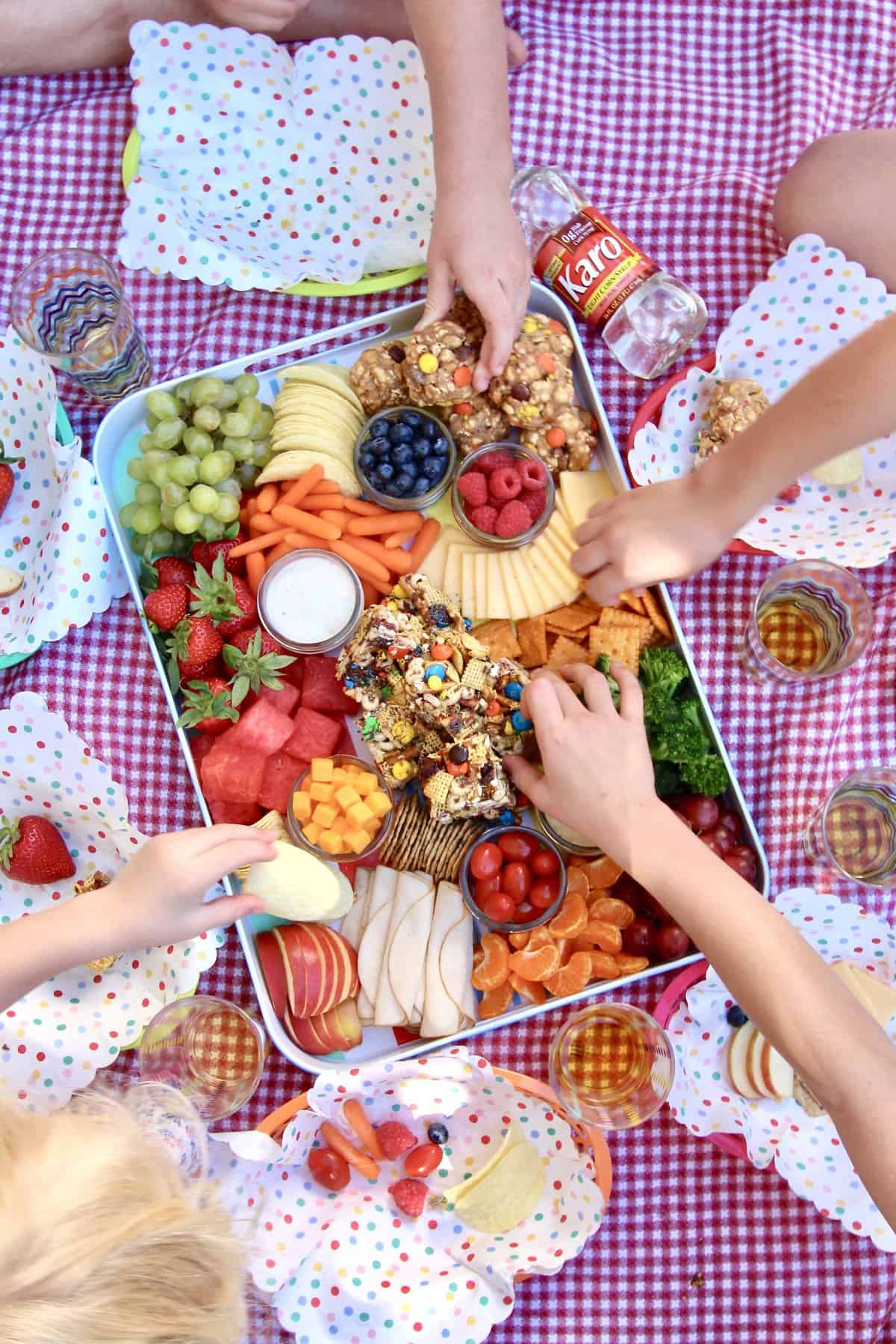 Summer Picnic Snack Tray by The BakerMama