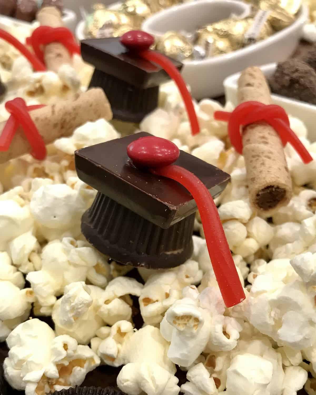Graduation Snack Board by The BakerMama - Graduation Cap Candies