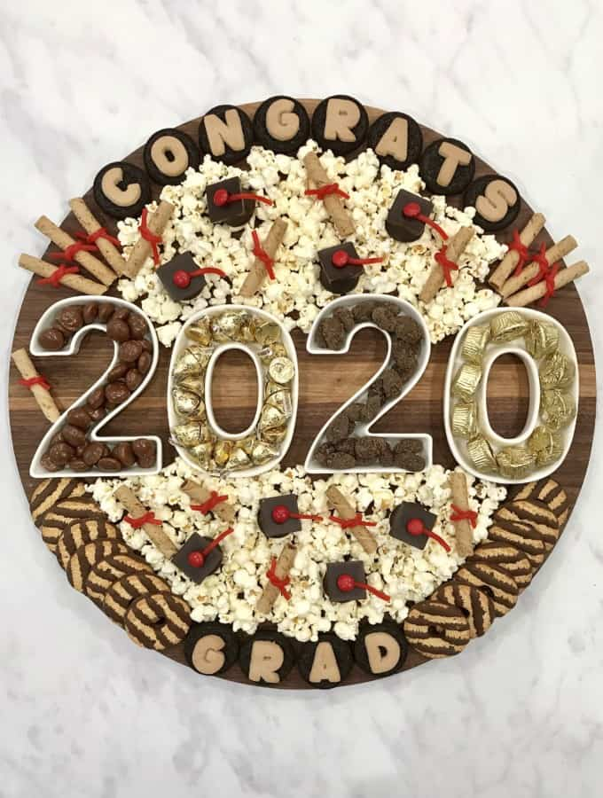 Graduation Snack Board by The BakerMama