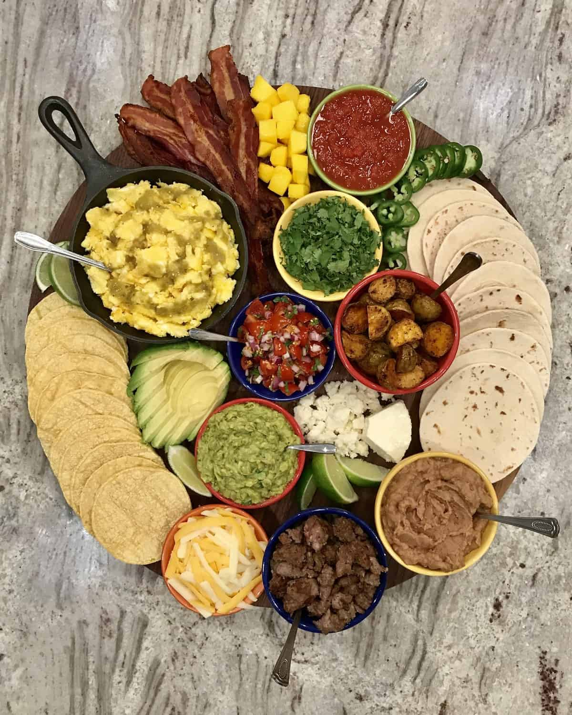 Breakfast Taco Board by The BakerMama