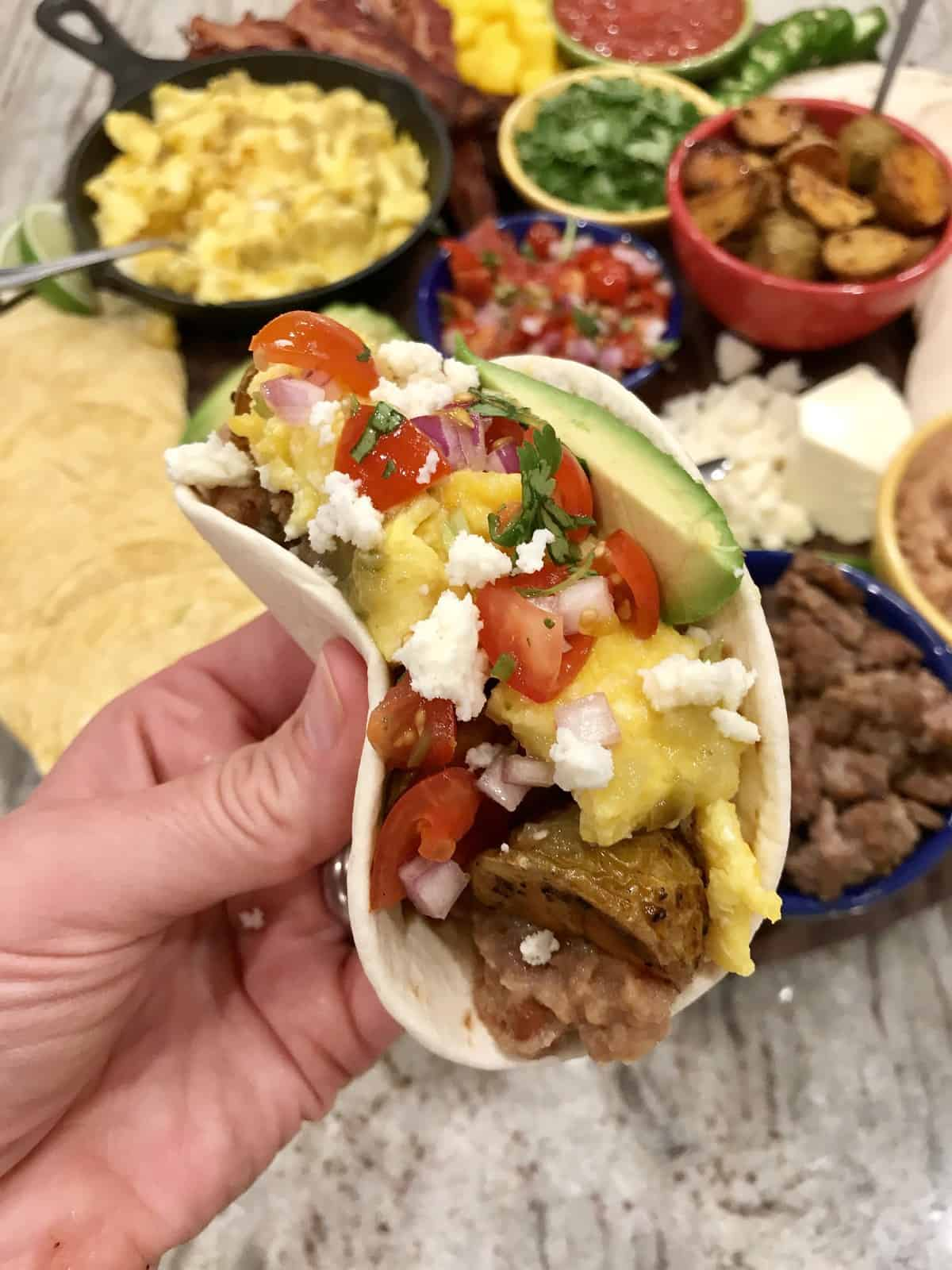 Build Your Own Breakfast Taco Board The Bakermama