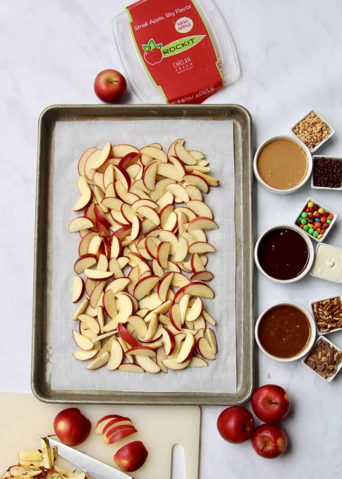 Apple Nachos - 3 Ways! by The BakerMama