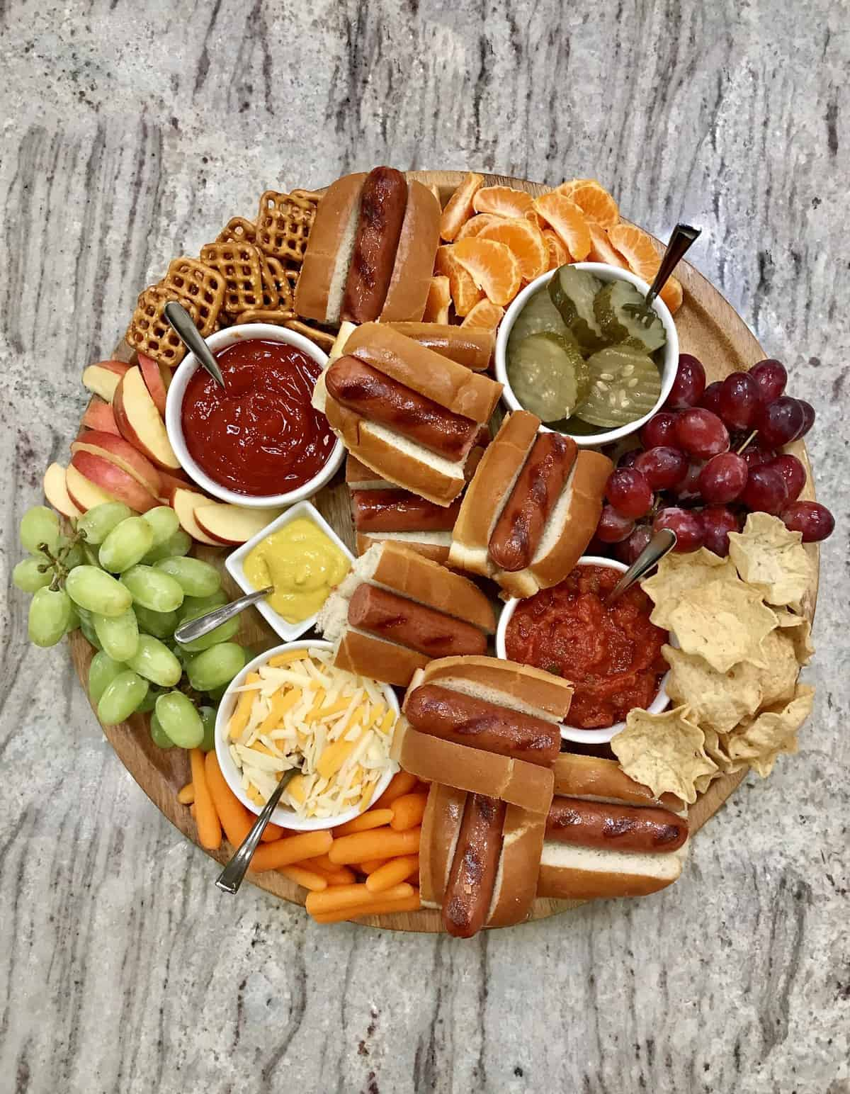 Hot Dog Board by The BakerMama
