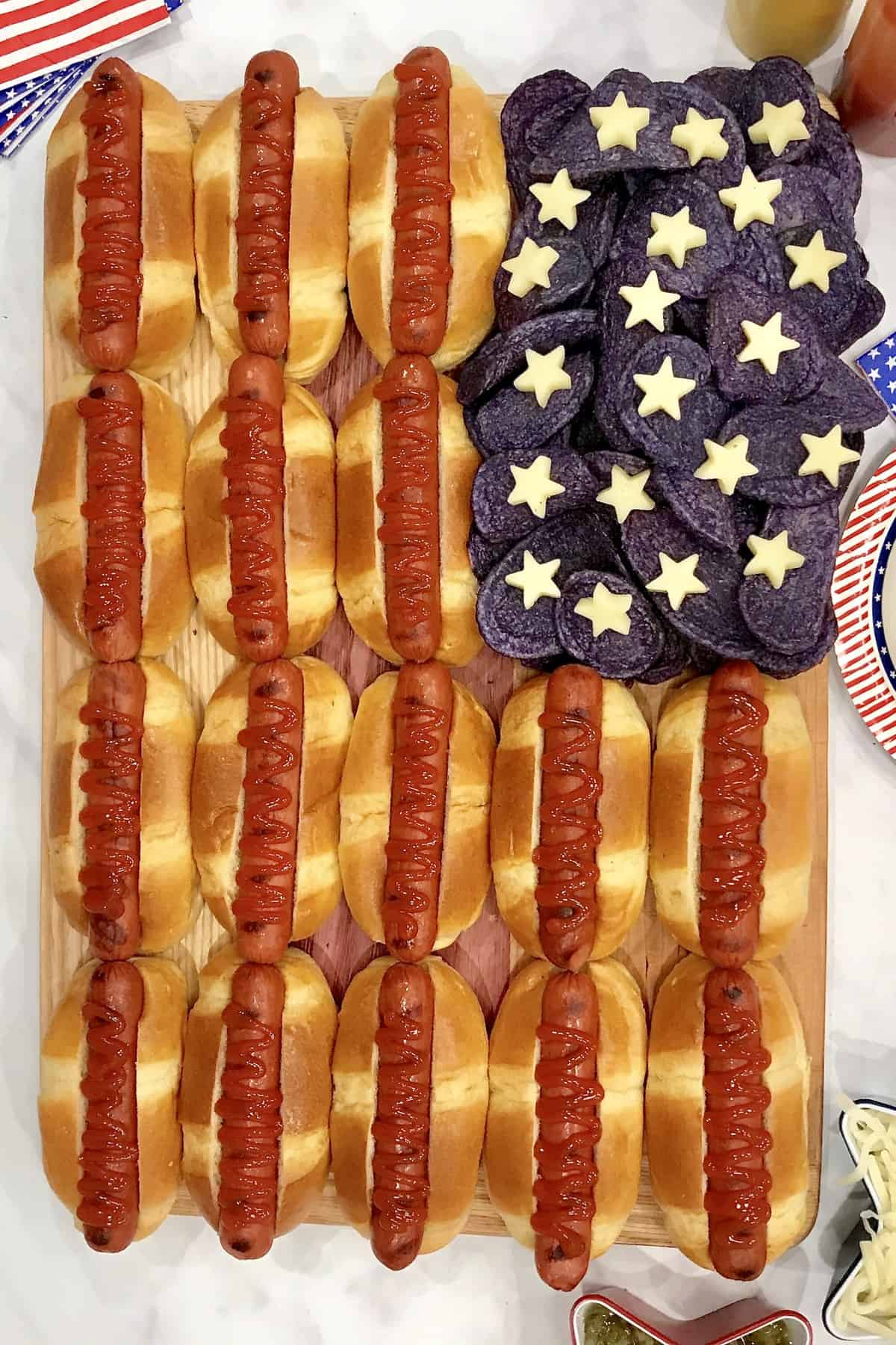 Hot Dog Flag Board by The BakerMama