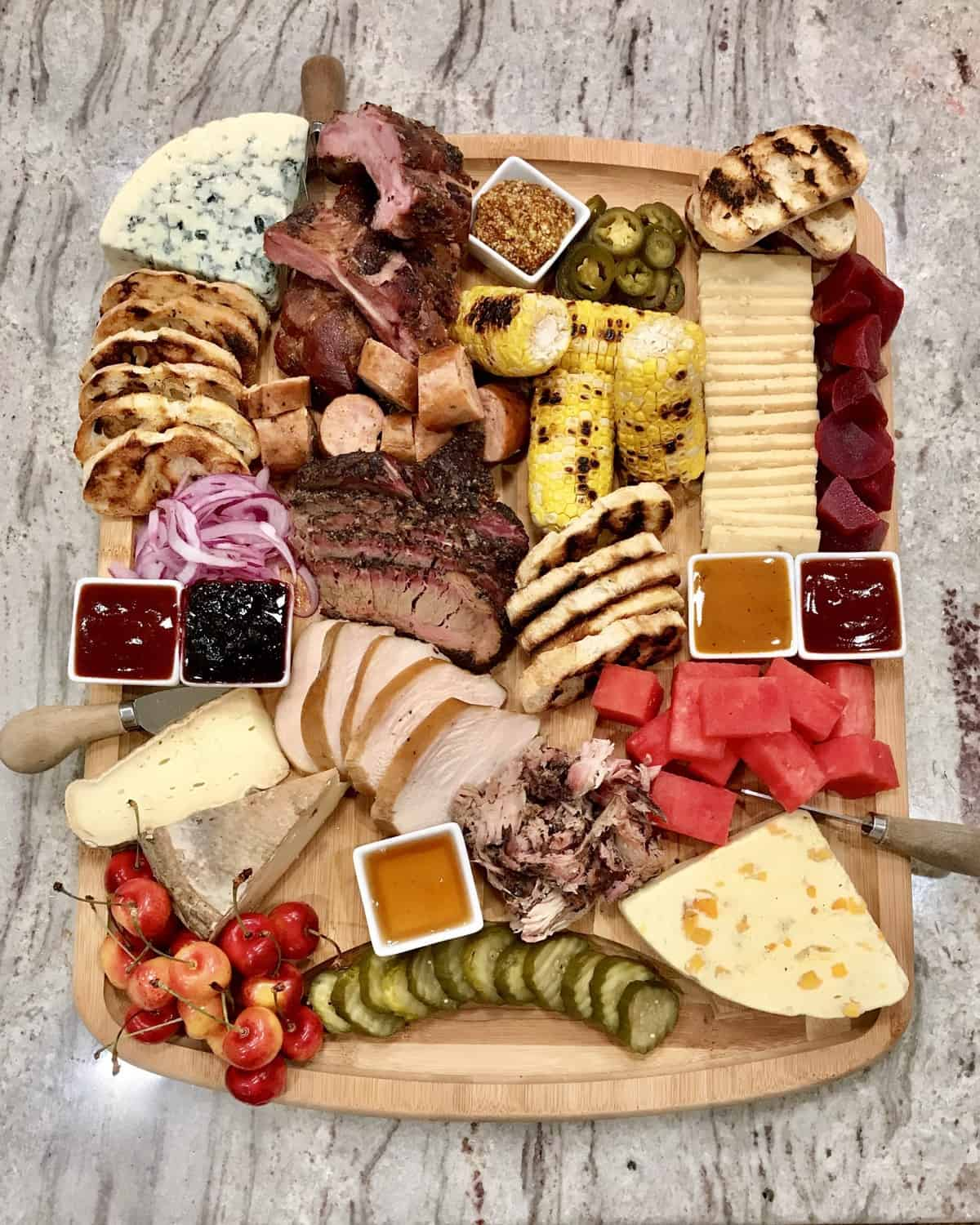 BBQ and Cheese Board by The BakerMama