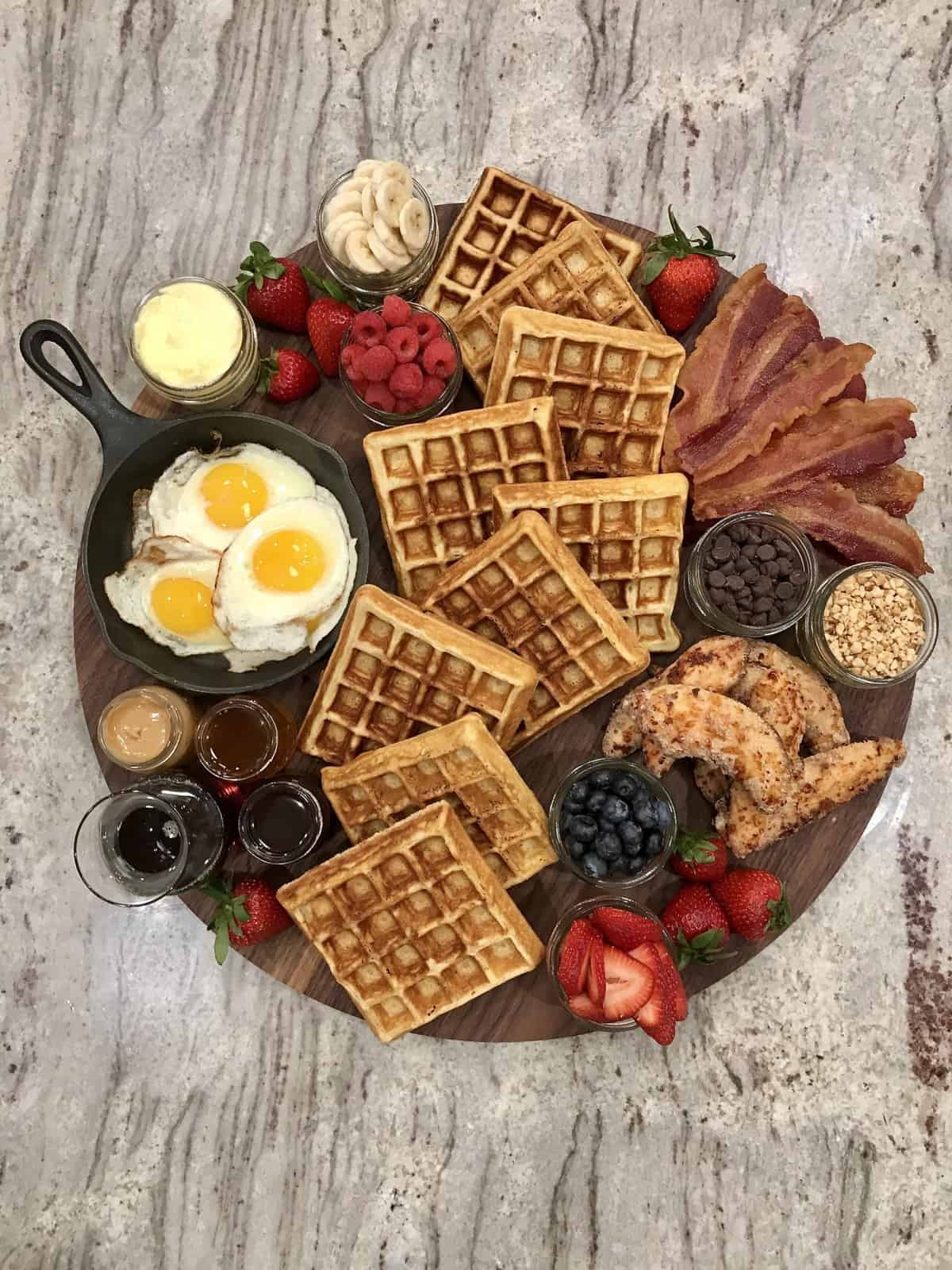 Chicken and Waffles Board by The BakerMama