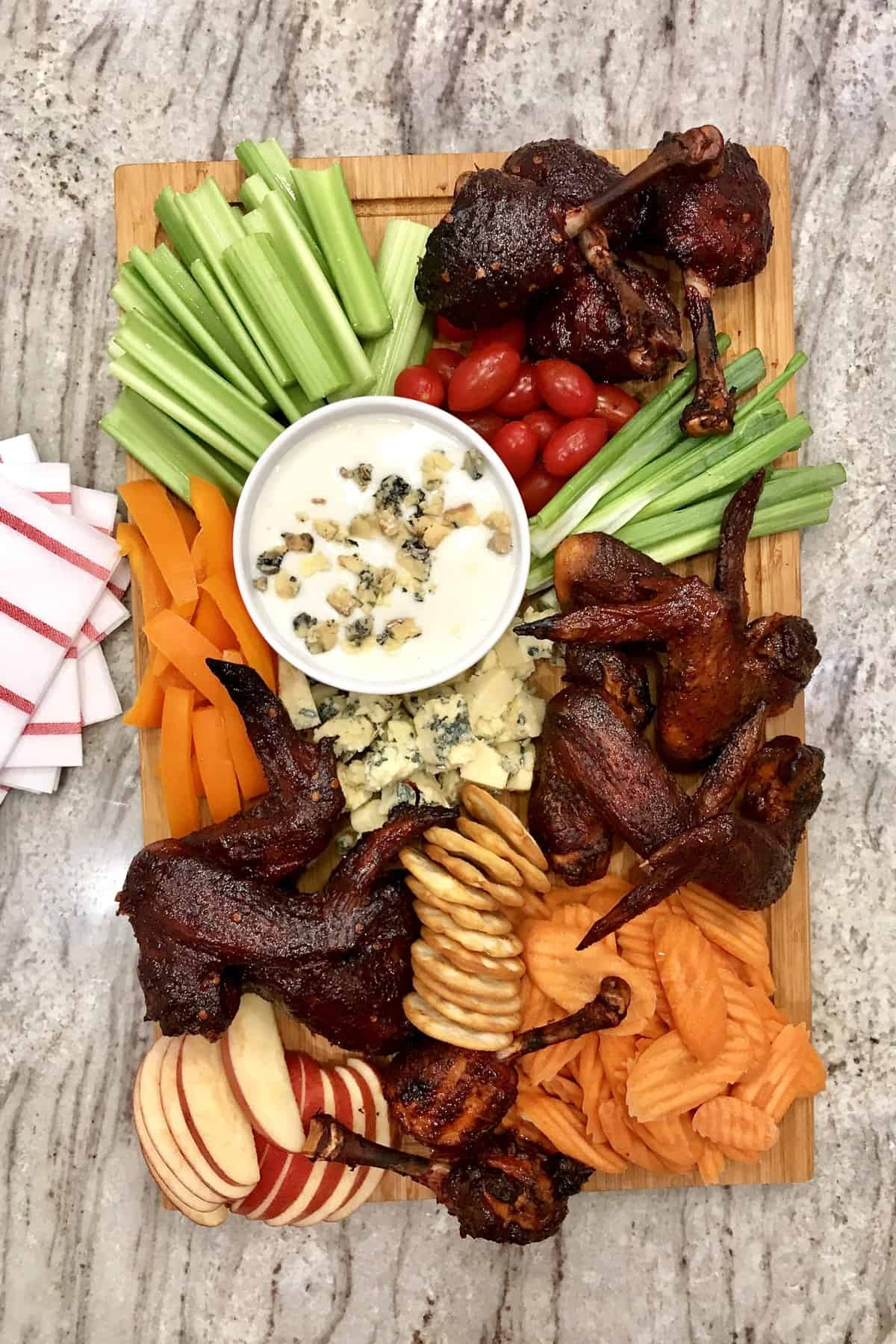 Wings and Things Board by The BakerMama