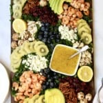 Kale + SunGold Kiwifruit Salad Board by The BakerMama