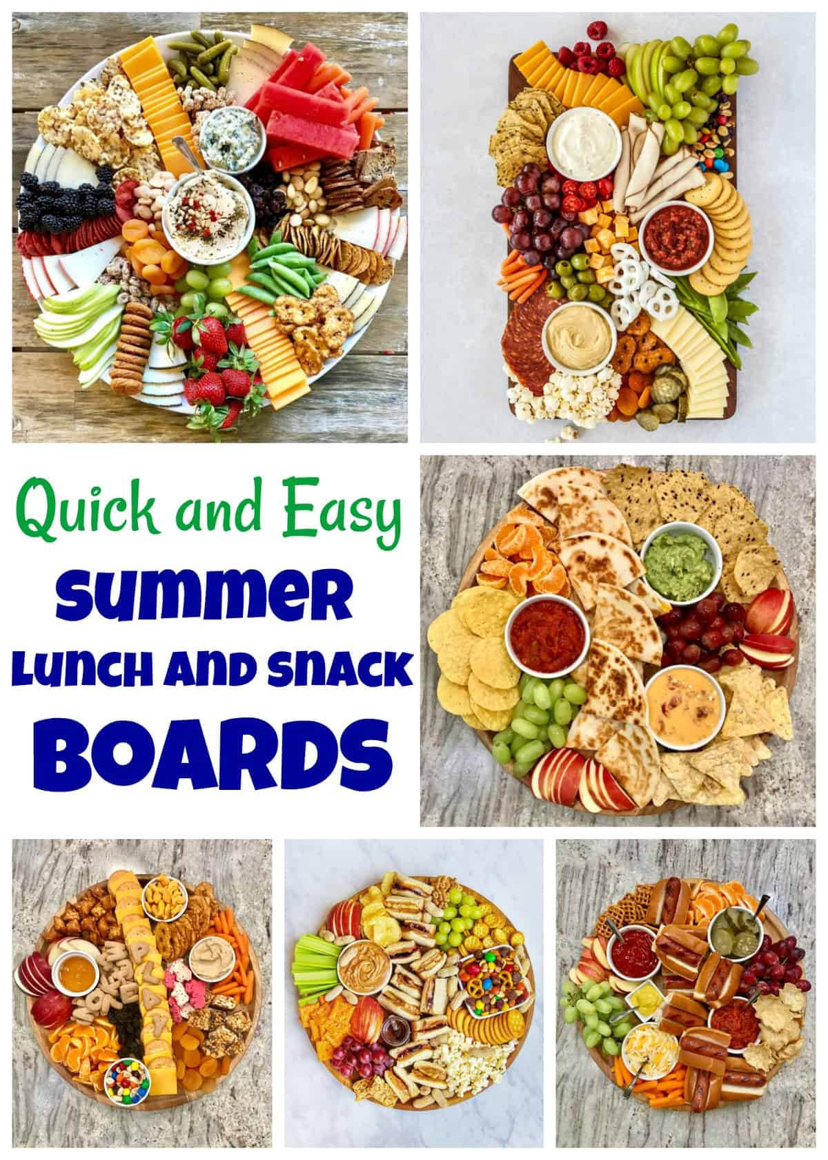 Lunch and Snack Boards by The BakerMama