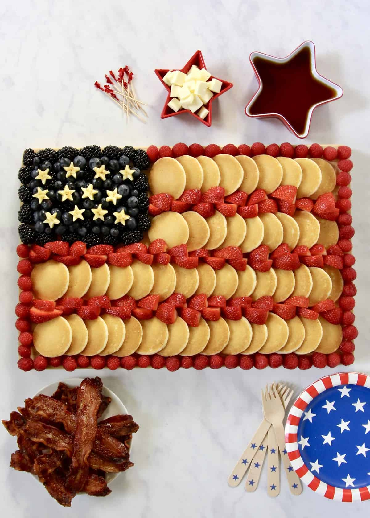 Patriotic Pancake Board by The BakerMama